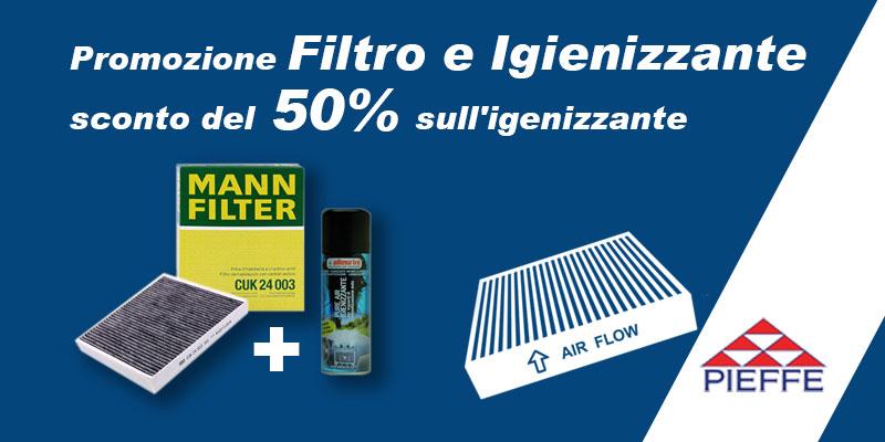Promozione Filtro e Igienizzante